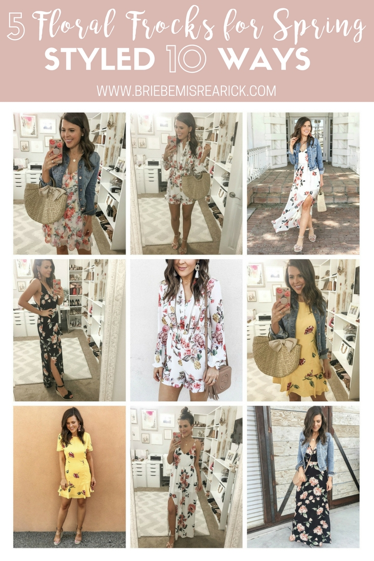 5 Floral Frocks for Spring Styled 10 Ways