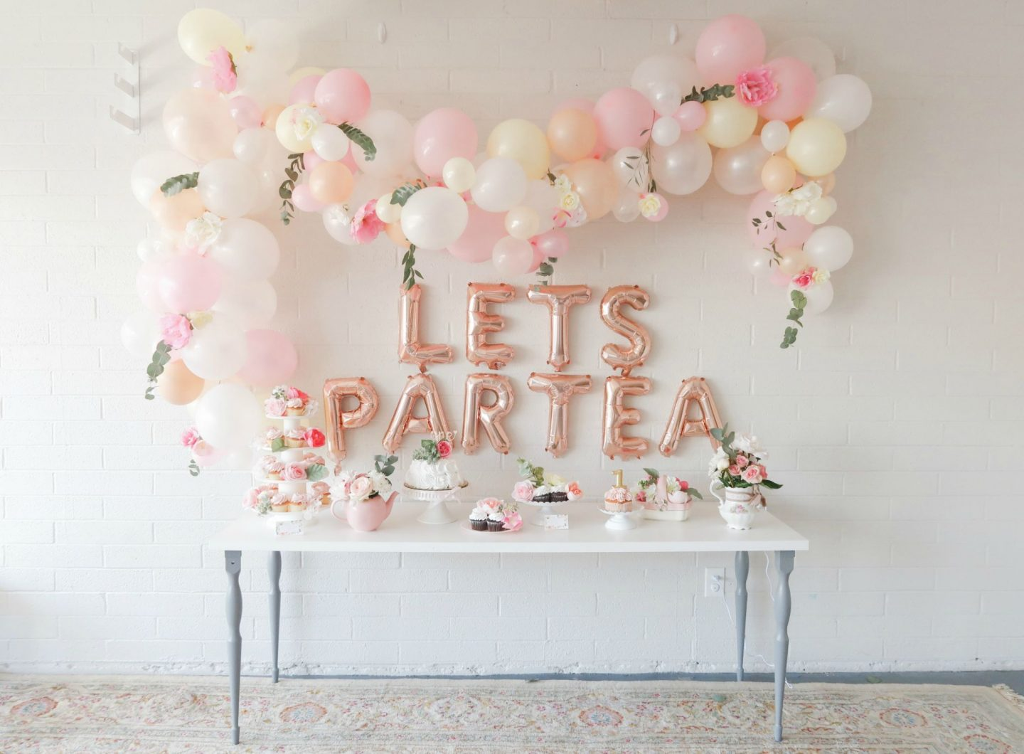 First birthday tea party lets partea girl birthday decor