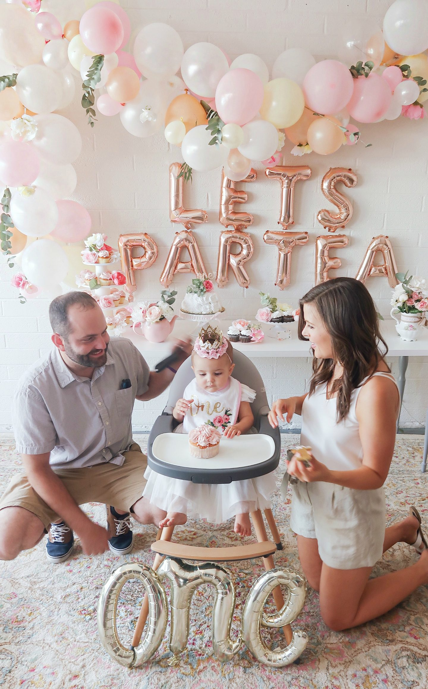 first birthday tea party lets partea birthday decor