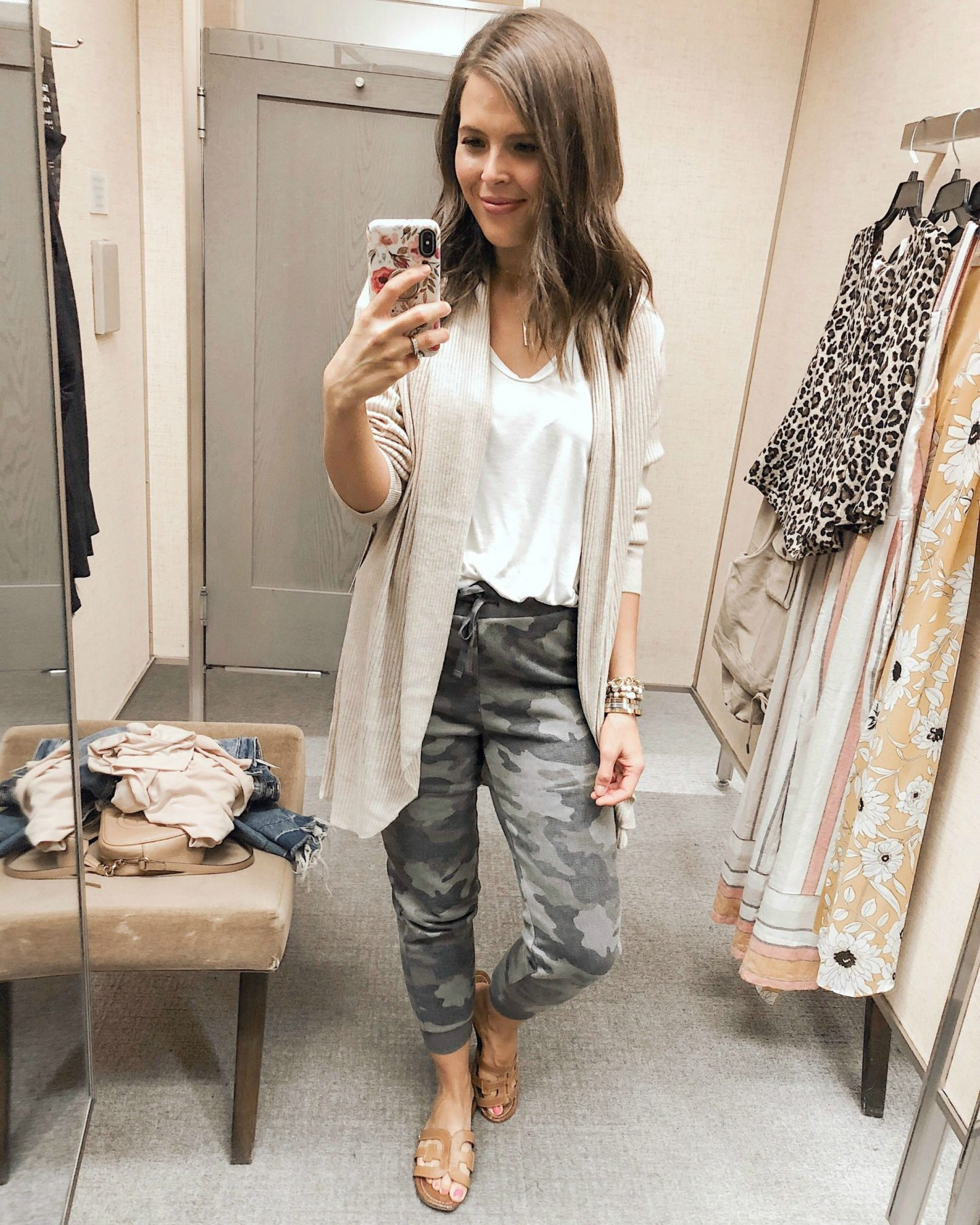 fall fashion try on haul nordstrom bp camo jogger pants