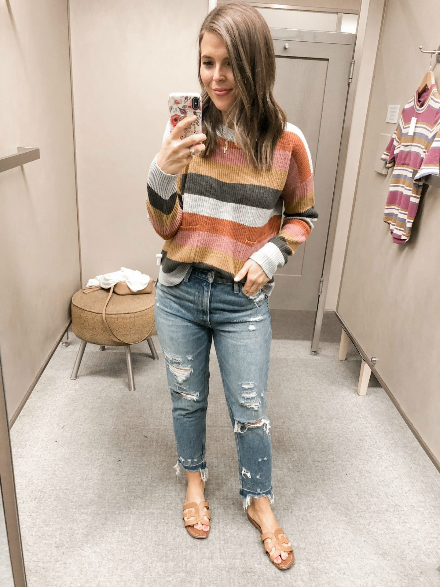 fall fashion try on haul nordstrom madewell patch pocket pullover sweater