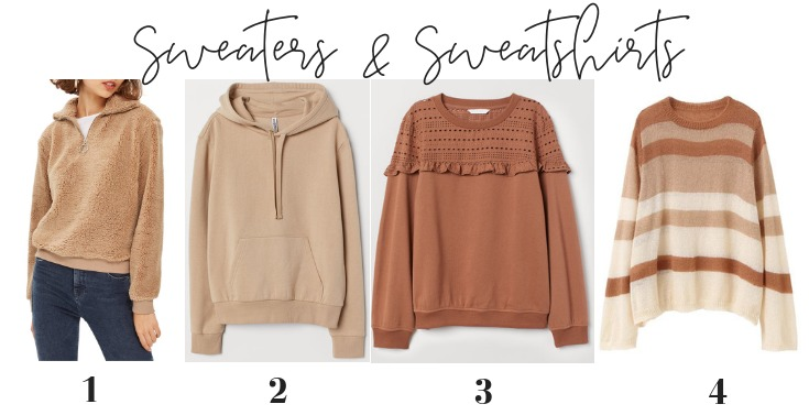 neutral sweaters sweatshirts