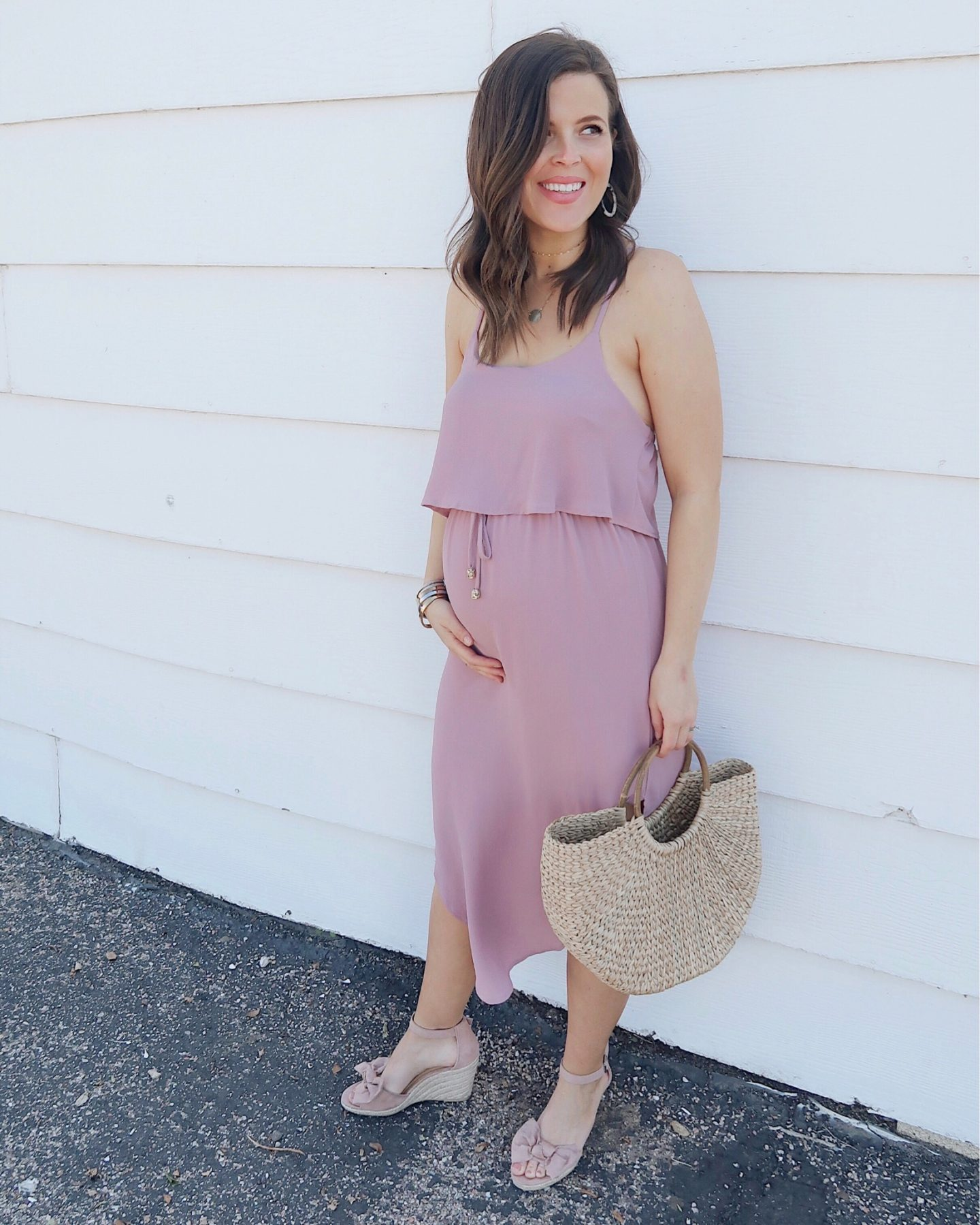 amazon mauve midi dress