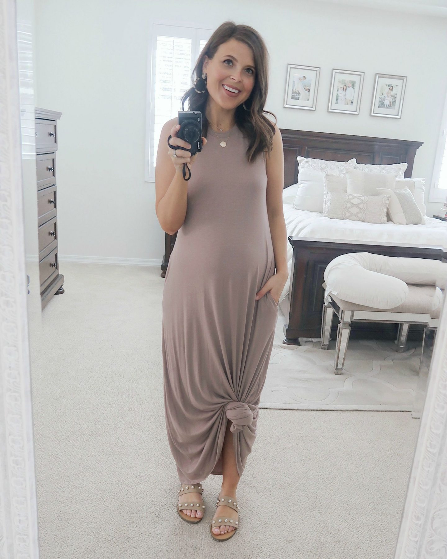 amazon mauve maxi dress