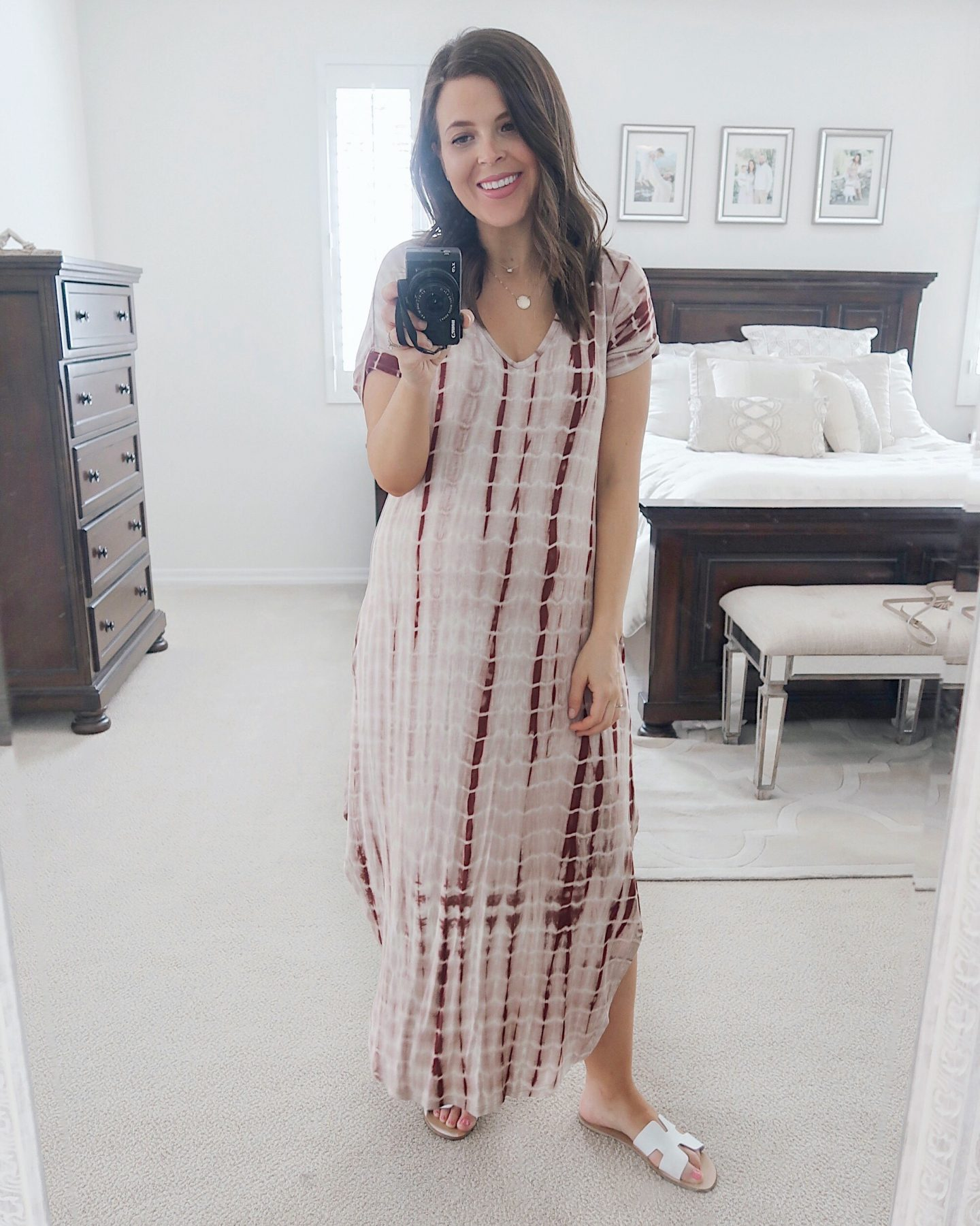 amazon try-on brie_bemis_rearick_makemechic_casual_tie_dye_maxi_dress_1