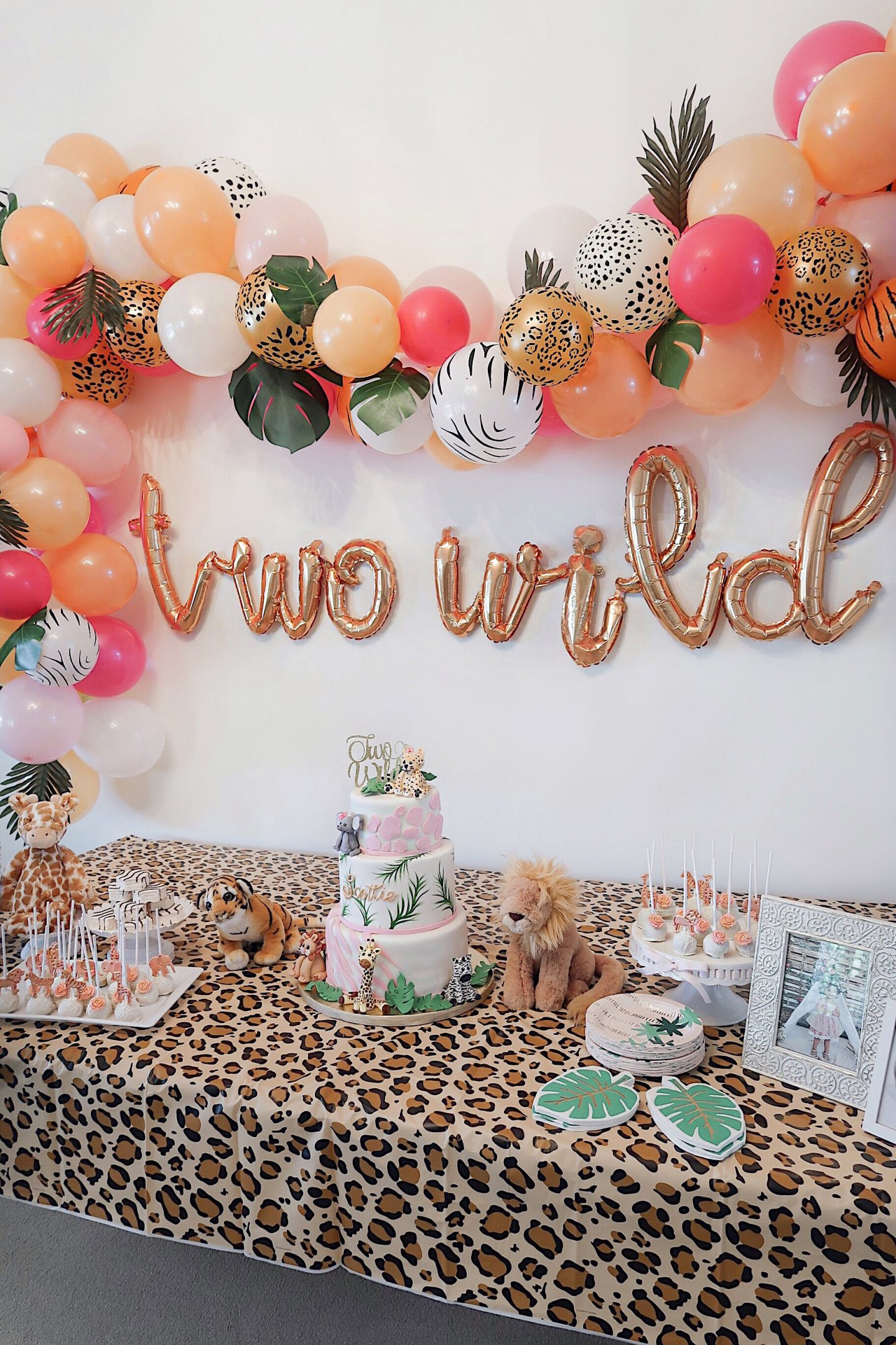 brie bemis rearick safari girl birthday party summer tropical inspiration dessert table