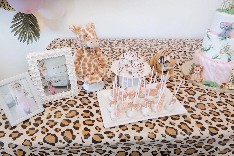 brie bemis rearick safari girl birthday party summer tropical inspiration cake pops