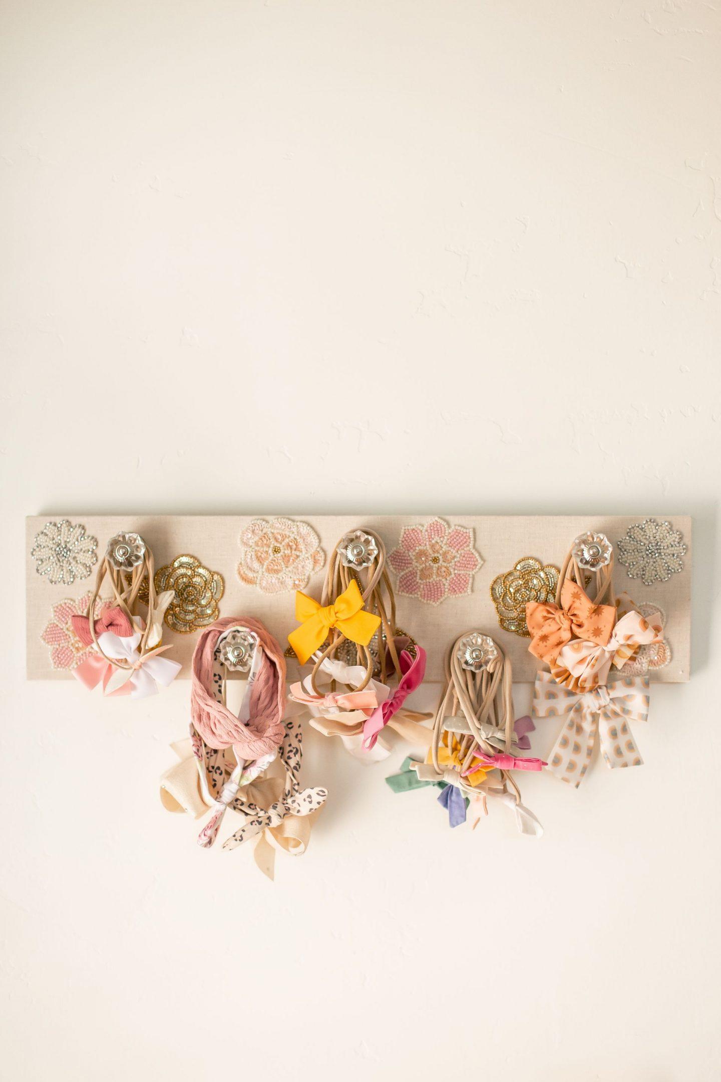 baby girl nursery 2020 bow holder