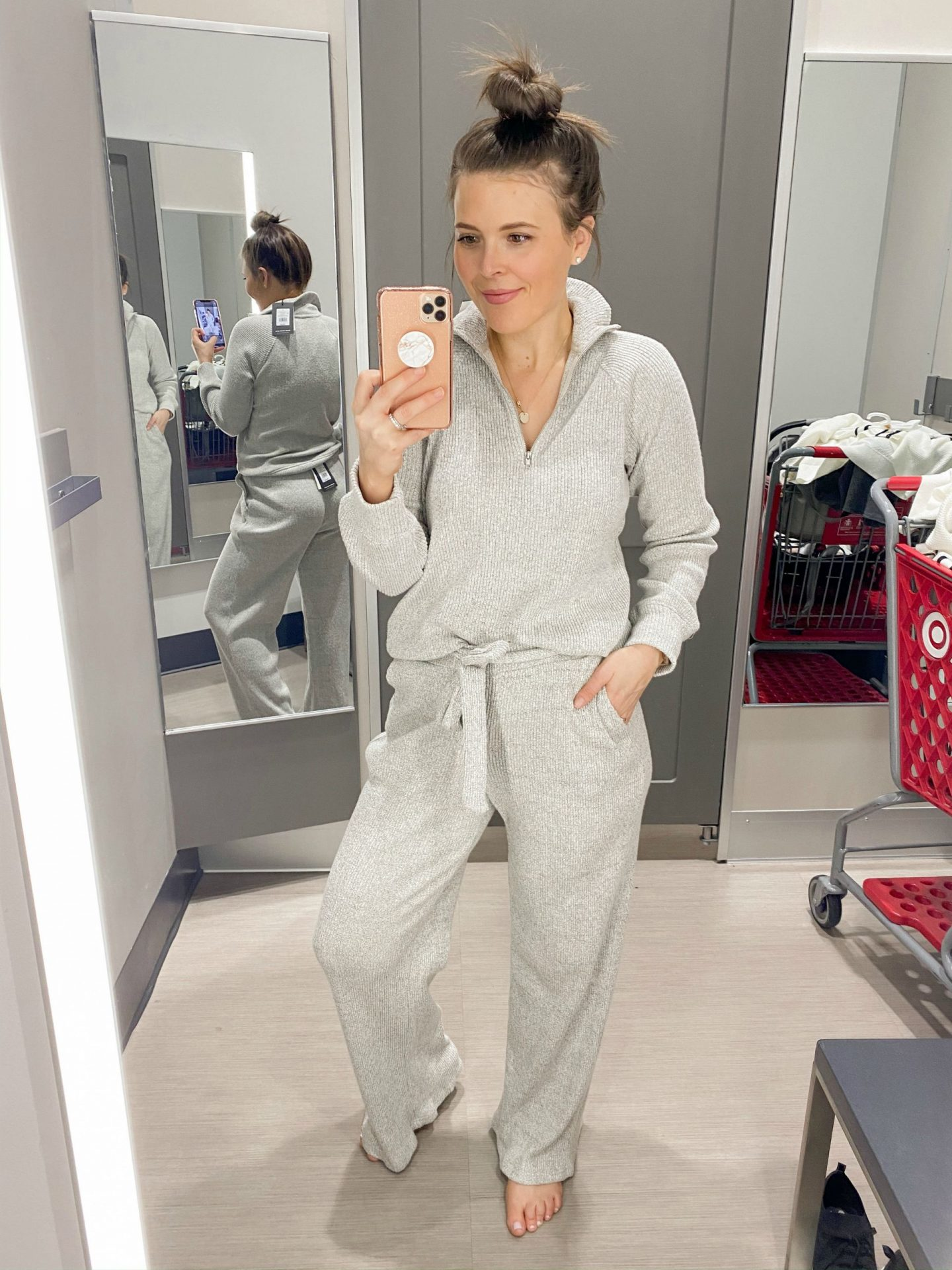 January Target Try On Session Brie Bemis Rearick Who What Wear Loungewear