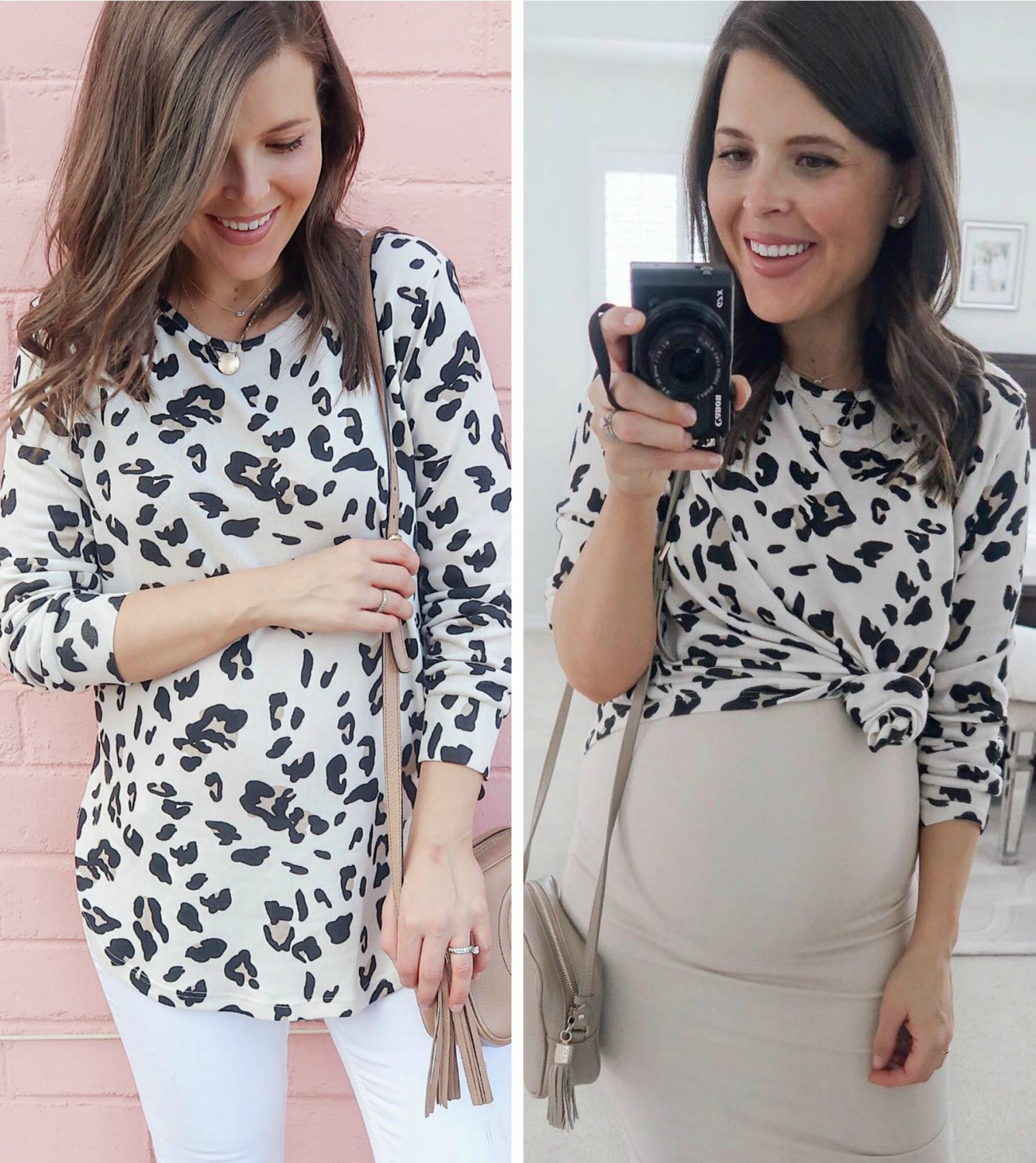 leopard sweater non-maternity pregnancy fashion amazon