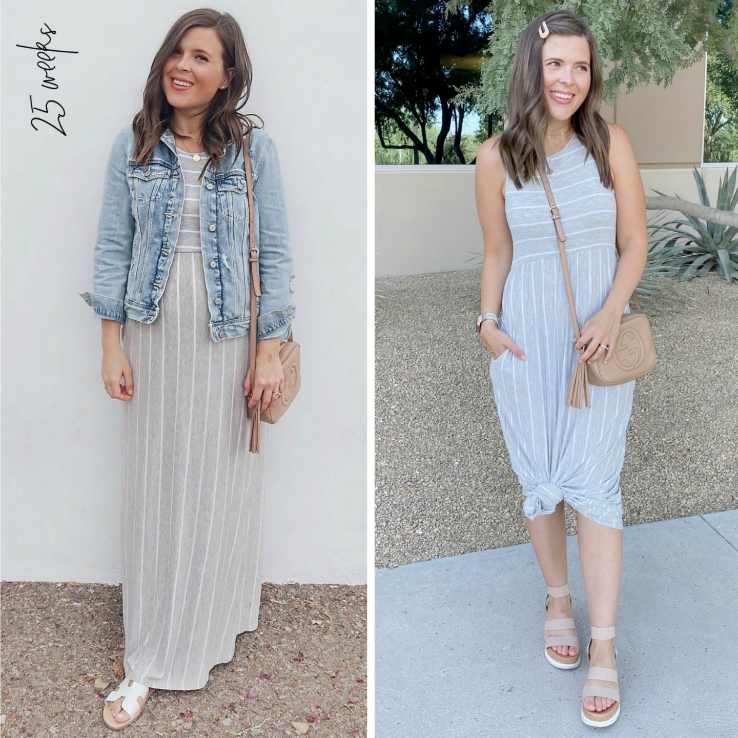stripe maxi dress non-maternity amazon pregnancy fashion
