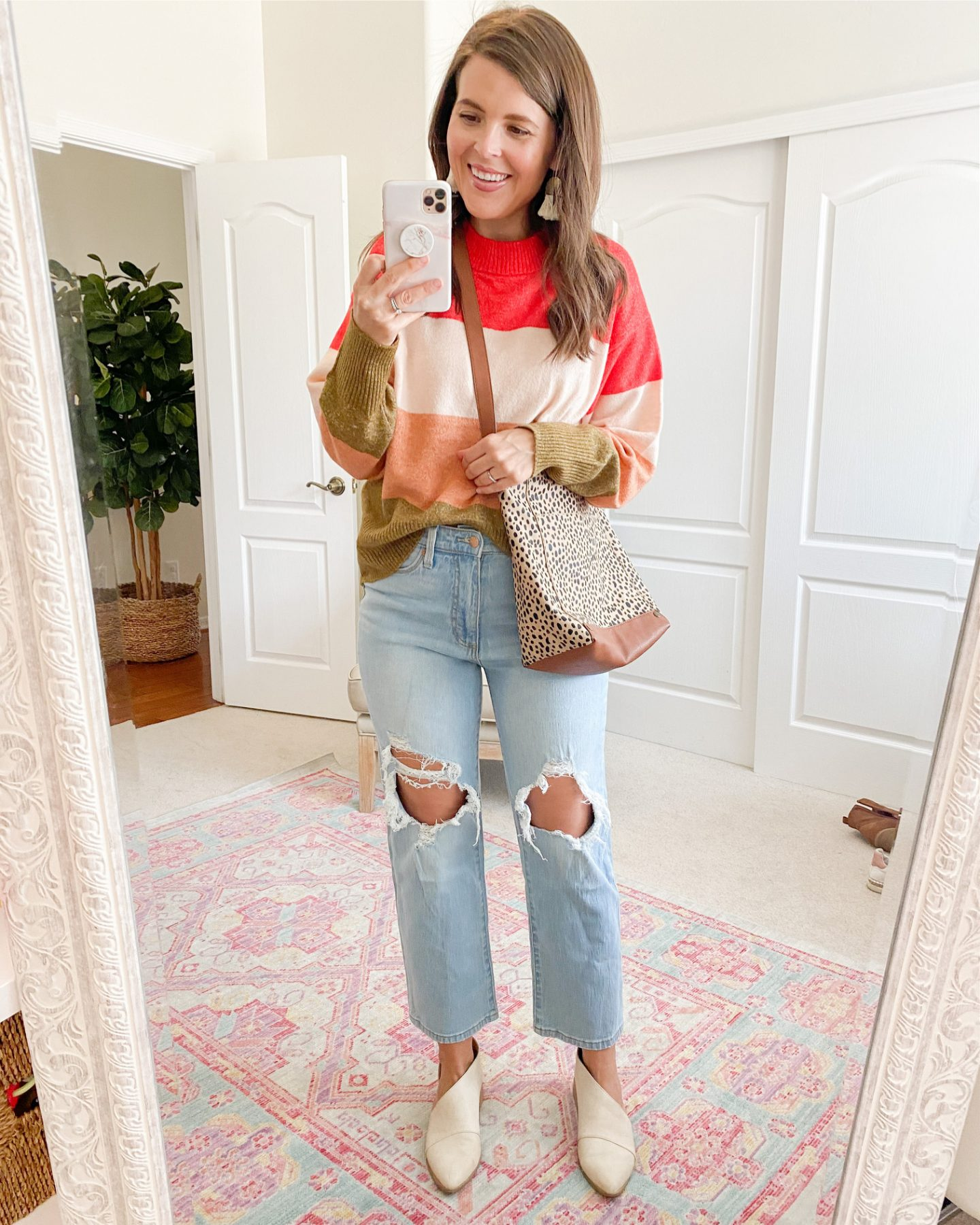 target fall capsule wardrobe Universal Thread High-Rise Vintage Straight Cropped Jeans