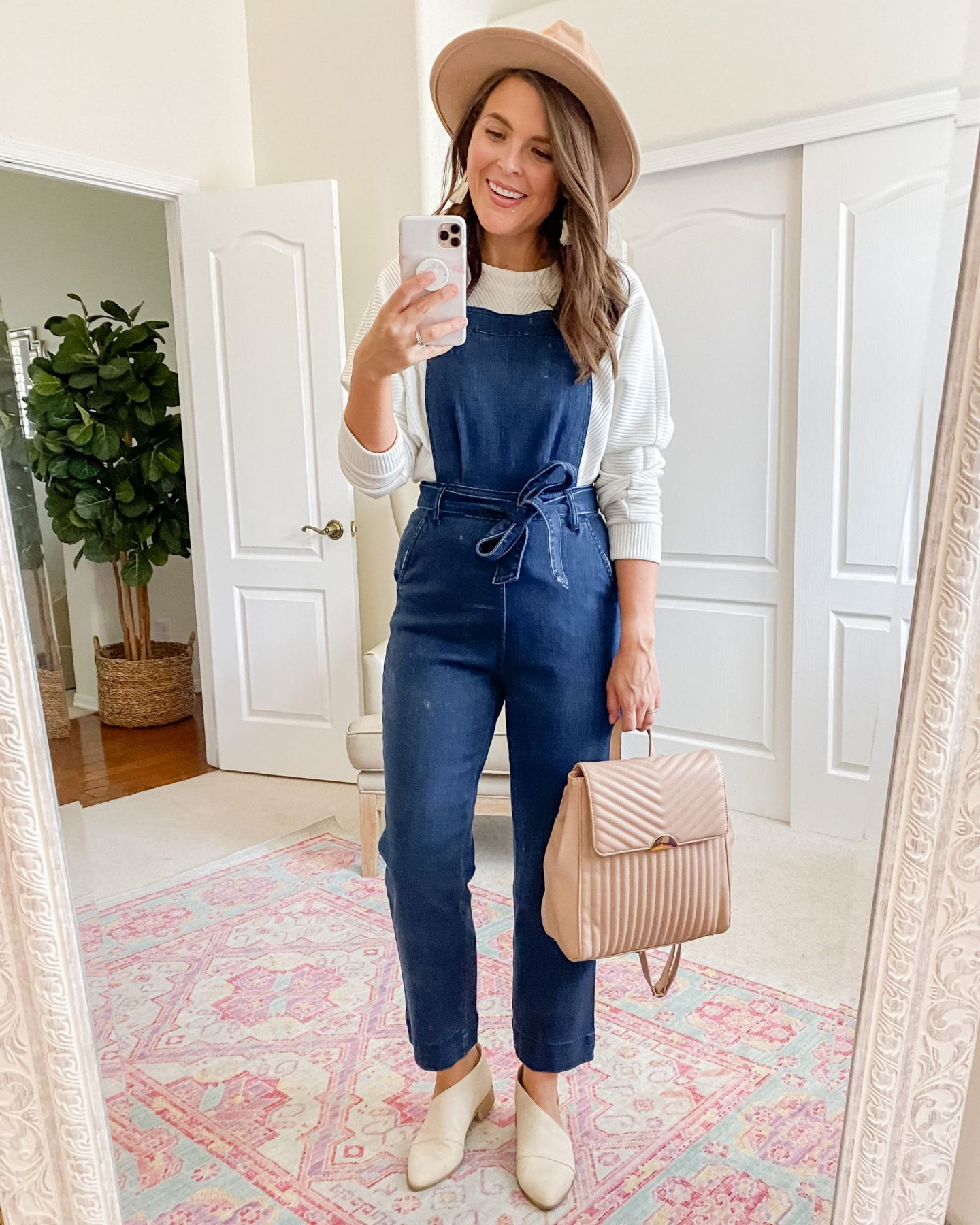 target fall capsule Universal Thread Tie-Front Denim Overalls