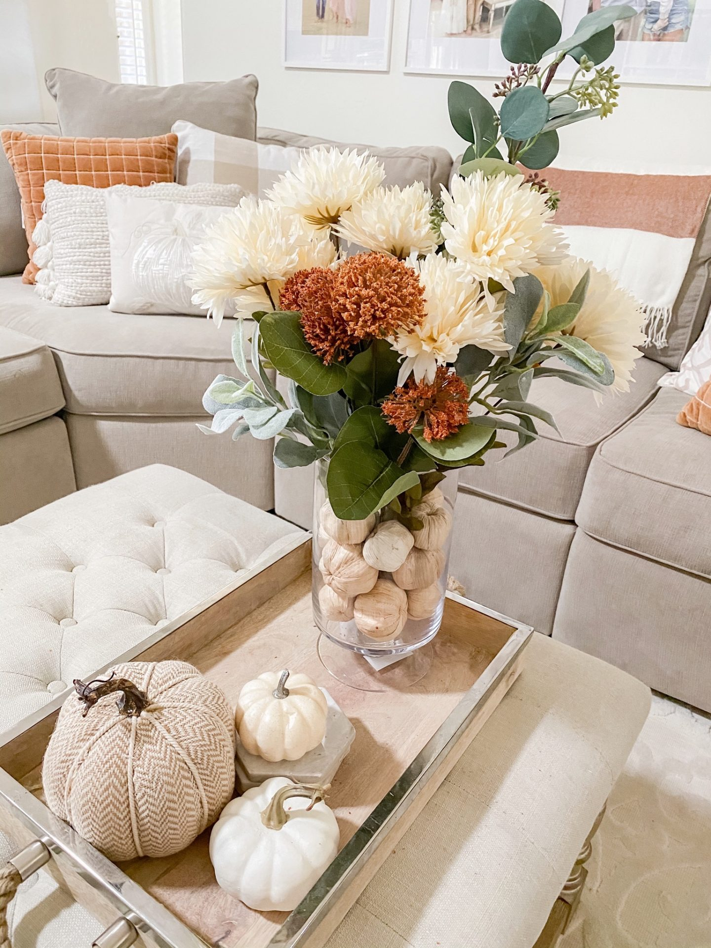 diy fall floral arrangement fall home decor 2020