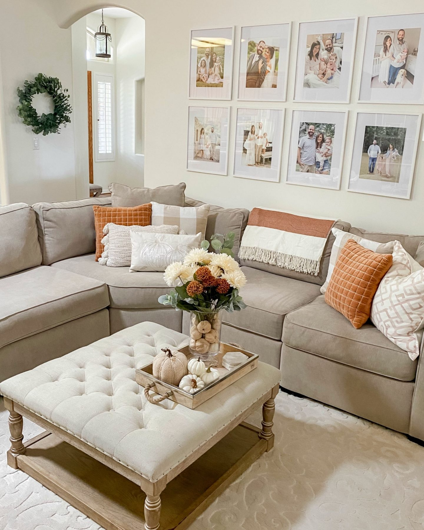 2020 fall decor home tour living room hearth and hand target