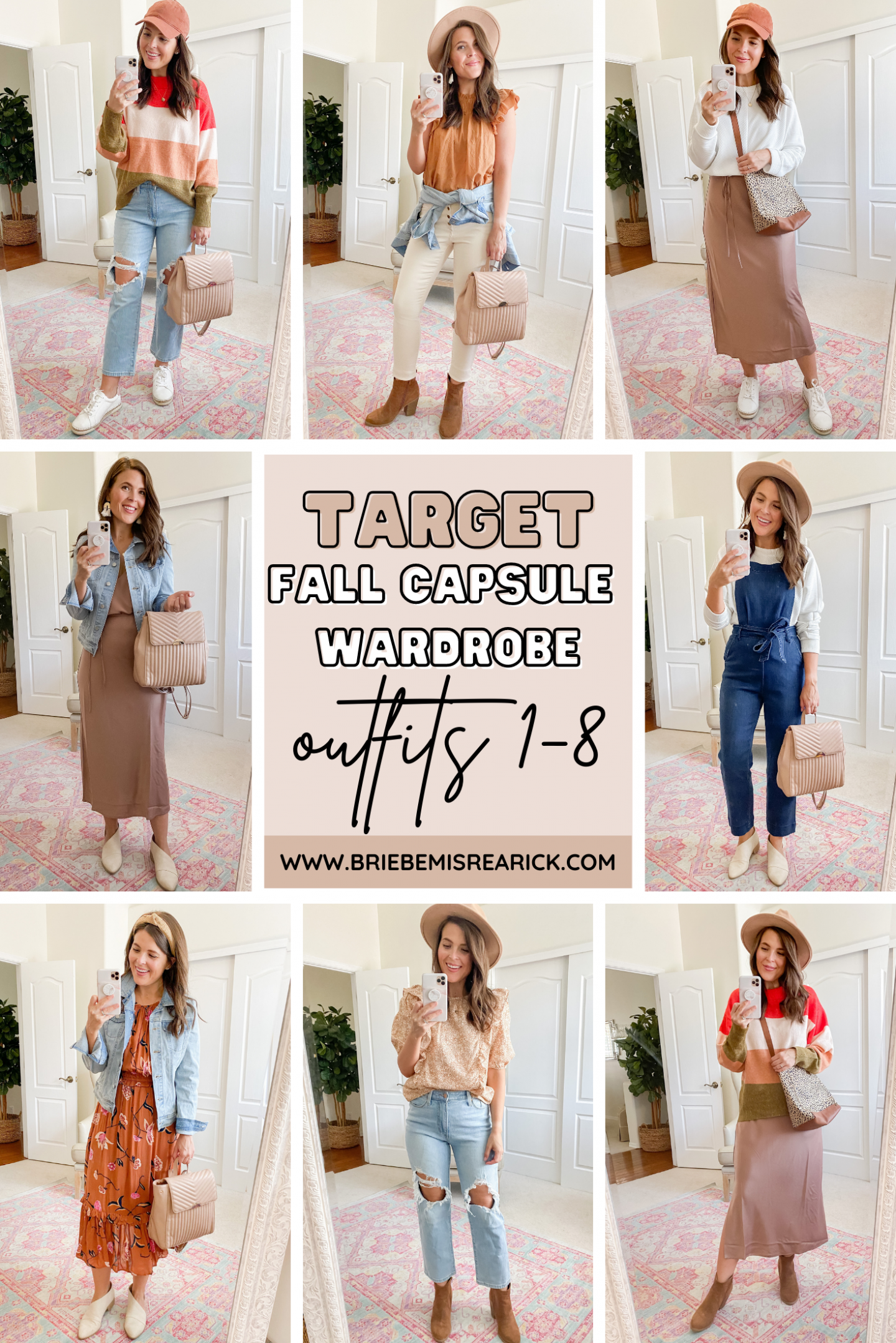 Target Fall Capsule Wardrobe: Outfits 1-8