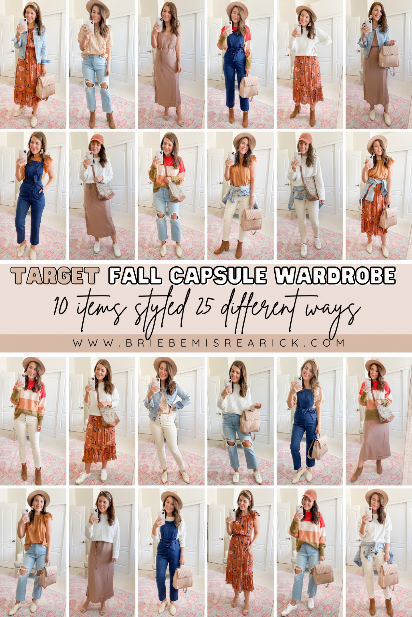 Target Fall Capsule Wardrobe: 10 Items Styled 25 Ways