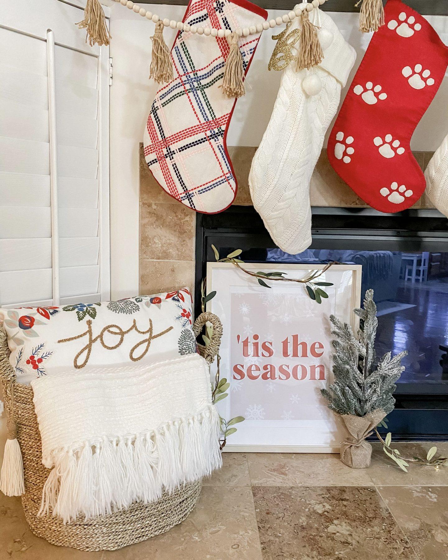 Christmas Home Tour Holiday Decor Christmas Print Stockings